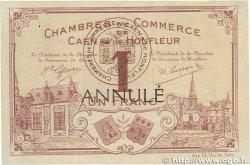 1 Franc FRANCE régionalisme et divers CAEN ET HONFLEUR 1915 JP.034.02 SUP