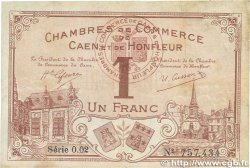 1 Franc FRANCE régionalisme et divers CAEN ET HONFLEUR 1915 JP.034.06 TTB