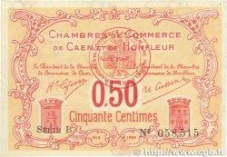 50 Centimes FRANCE régionalisme et divers CAEN ET HONFLEUR 1915 JP.034.12 SPL