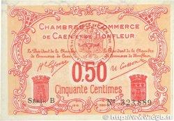 50 Centimes FRANCE régionalisme et divers CAEN ET HONFLEUR 1915 JP.034.12 SUP+