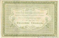1 Franc FRANCE régionalisme et divers Caen et Honfleur 1915 JP.034.14 SUP