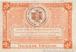 50 Centimes FRANCE régionalisme et divers Caen et Honfleur 1920 JP.034.16 SUP