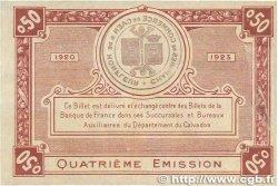 50 Centimes FRANCE régionalisme et divers CAEN ET HONFLEUR 1920 JP.034.20 TTB+