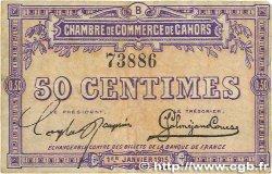 50 Centimes FRANCE régionalisme et divers CAHORS 1915 JP.035.05 TTB