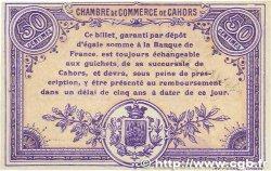 50 Centimes FRANCE régionalisme et divers CAHORS 1915 JP.035.06 SPL