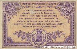 50 Centimes FRANCE régionalisme et divers CAHORS 1915 JP.035.12 SPL
