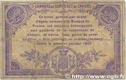 50 Centimes FRANCE régionalisme et divers Cahors 1915 JP.035.12 TB