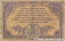 50 Centimes FRANCE régionalisme et divers CAHORS 1915 JP.035.16 B