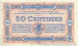 50 Centimes FRANCE régionalisme et divers CAHORS 1918 JP.035.21 SUP