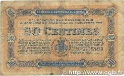 50 Centimes FRANCE régionalisme et divers CAHORS 1918 JP.035.21 pr.TB