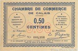 50 Centimes FRANCE régionalisme et divers Calais 1914 JP.036.01 TTB+