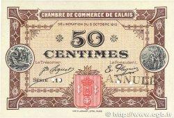 50 Centimes FRANCE régionalisme et divers Calais 1915 JP.036.09 SUP+