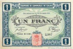 1 Franc FRANCE régionalisme et divers CALAIS 1915 JP.036.15 SUP