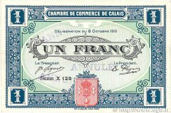 1 Franc FRANCE régionalisme et divers  1915 JP.036.16var. SUP+