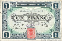 1 Franc FRANCE régionalisme et divers Calais 1916 JP.036.27 TTB+