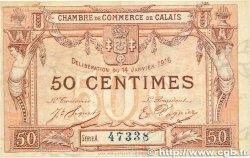 50 Centimes FRANCE régionalisme et divers Calais 1916 JP.036.28 SUP
