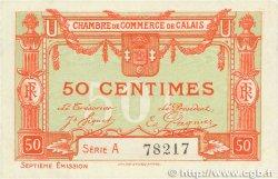 50 Centimes FRANCE régionalisme et divers CALAIS 1918 JP.036.40 SPL
