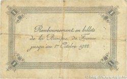 1 Franc FRANCE régionalisme et divers Calais 1920 JP.036.43 TB