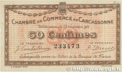50 Centimes FRANCE régionalisme et divers CARCASSONNE 1914 JP.038.01 SUP