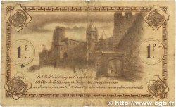 1 Franc FRANCE régionalisme et divers CARCASSONNE 1920 JP.038.17 B
