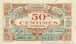 50 Centimes FRANCE régionalisme et divers RÉGION ÉCONOMIQUE DU CENTRE 1918 JP.040.05 SUP+