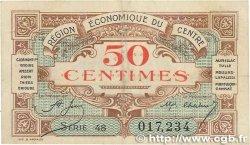 50 Centimes FRANCE régionalisme et divers RÉGION ÉCONOMIQUE DU CENTRE 1918 JP.040.05 TTB