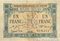 1 Franc FRANCE régionalisme et divers Région Économique Du Centre 1918 JP.040.07 TB