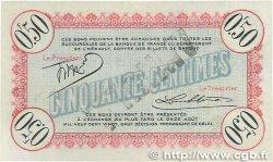 50 Centimes FRANCE régionalisme et divers CETTE ACTUELLEMENT SÈTE 1915 JP.041.03 SUP+