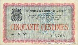 50 Centimes FRANCE régionalisme et divers CETTE ACTUELLEMENT SÈTE 1915 JP.041.10 TTB