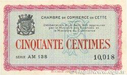50 Centimes FRANCE régionalisme et divers CETTE ACTUELLEMENT SÈTE 1915 JP.041.12 pr.NEUF