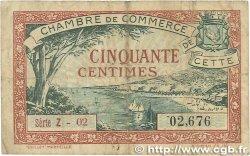 50 Centimes FRANCE régionalisme et divers Cette, actuellement Sete 1922 JP.041.18 TB
