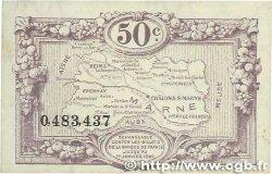 50 Centimes FRANCE régionalisme et divers CHALONS, REIMS, ÉPERNAY 1922 JP.043.01
