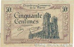 50 Centimes FRANCE régionalisme et divers CHALONS, REIMS, ÉPERNAY 1922 JP.043.01 SUP+