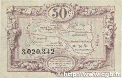 50 Centimes FRANCE régionalisme et divers CHALONS, REIMS, ÉPERNAY 1922 JP.043.01 TTB+