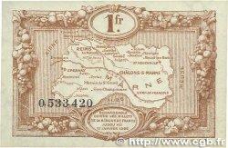 1 Franc FRANCE régionalisme et divers Chalons, Reims, Épernay 1922 JP.043.02 SPL