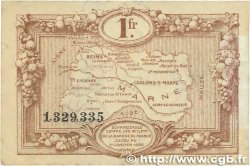 1 Franc FRANCE régionalisme et divers CHALONS, REIMS, ÉPERNAY 1922 JP.043.02 TTB