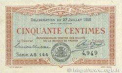 50 Centimes FRANCE régionalisme et divers CHAMBÉRY 1916 JP.044.08 SUP+
