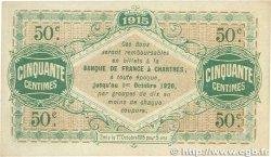 50 Centimes FRANCE régionalisme et divers Chartres 1915 JP.045.01 SUP+