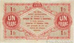1 Franc FRANCE régionalisme et divers CHARTRES 1915 JP.045.03 TTB