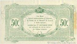 50 Centimes FRANCE régionalisme et divers Chartres 1917 JP.045.05 SUP