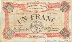 1 Franc FRANCE régionalisme et divers CHARTRES 1917 JP.045.07 pr.TTB