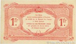 1 Franc FRANCE régionalisme et divers CHARTRES 1920 JP.045.10 SPL