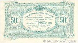 50 Centimes FRANCE régionalisme et divers Chartres 1921 JP.045.11 SPL