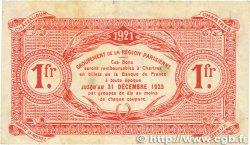 1 Franc FRANCE régionalisme et divers Chartres 1921 JP.045.13 pr.TTB