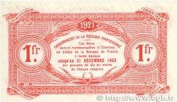 1 Franc FRANCE régionalisme et divers CHARTRES 1921 JP.045.13 SPL