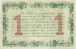 1 Franc FRANCE régionalisme et divers Chateauroux 1915 JP.046.02 TTB+