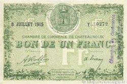 1 Franc FRANCE régionalisme et divers CHATEAUROUX 1915 JP.046.06 pr.SPL
