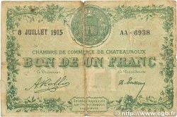 1 Franc FRANCE régionalisme et divers Chateauroux 1915 JP.046.07 B