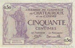50 Centimes FRANCE régionalisme et divers CHATEAUROUX 1920 JP.046.24 SUP