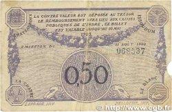 50 Centimes FRANCE régionalisme et divers CHATEAUROUX 1920 JP.046.24 B